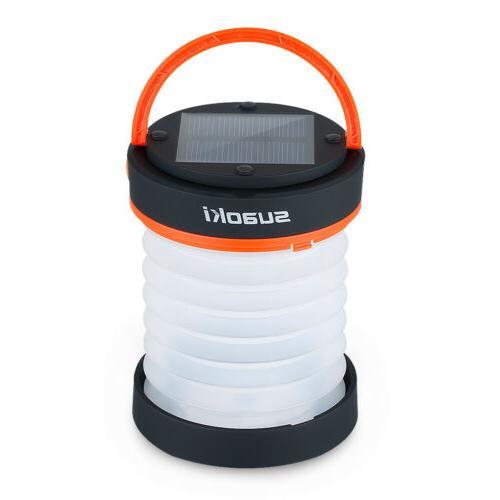 Suaoki 2 in 1 Collapsible Solar Panel USB LED Lantern Light