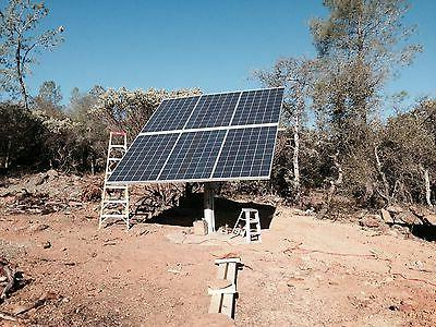 """Solar panel pole mount/holds 6 large panels/fits a 6"""" pipe o"""