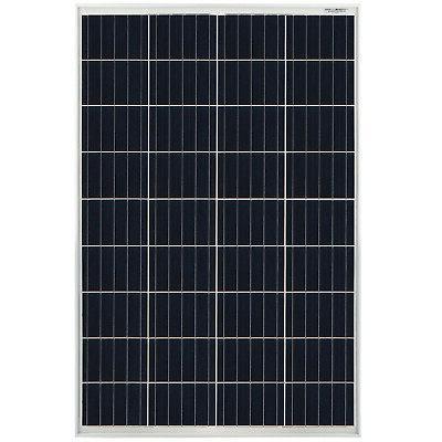 100 watt solar panel 12v poly off