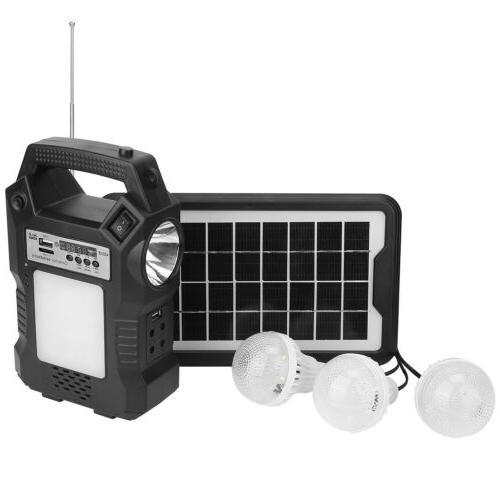 Solar Panel Kit Power Bulbs