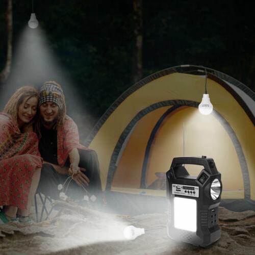 Solar Kit Portable Battery Power Bulbs