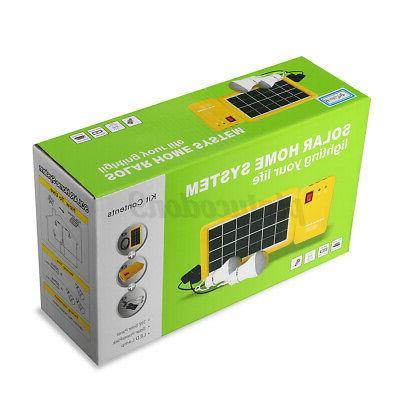 Solar Kit Charging 3 LED Camping