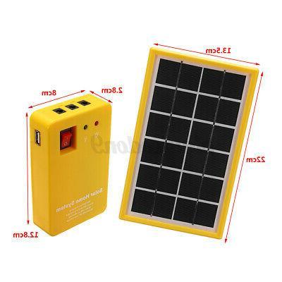 Solar Panel Power System Kit 3 Camping