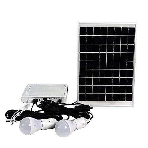 solar panel powered lighting system