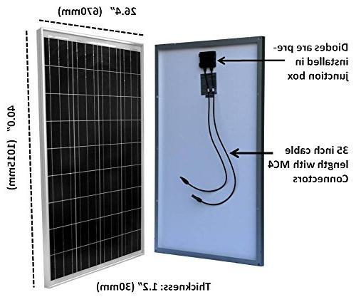 WindyNation 100 Solar Panel 12 Volt Charging RV, Boat, Off Grid