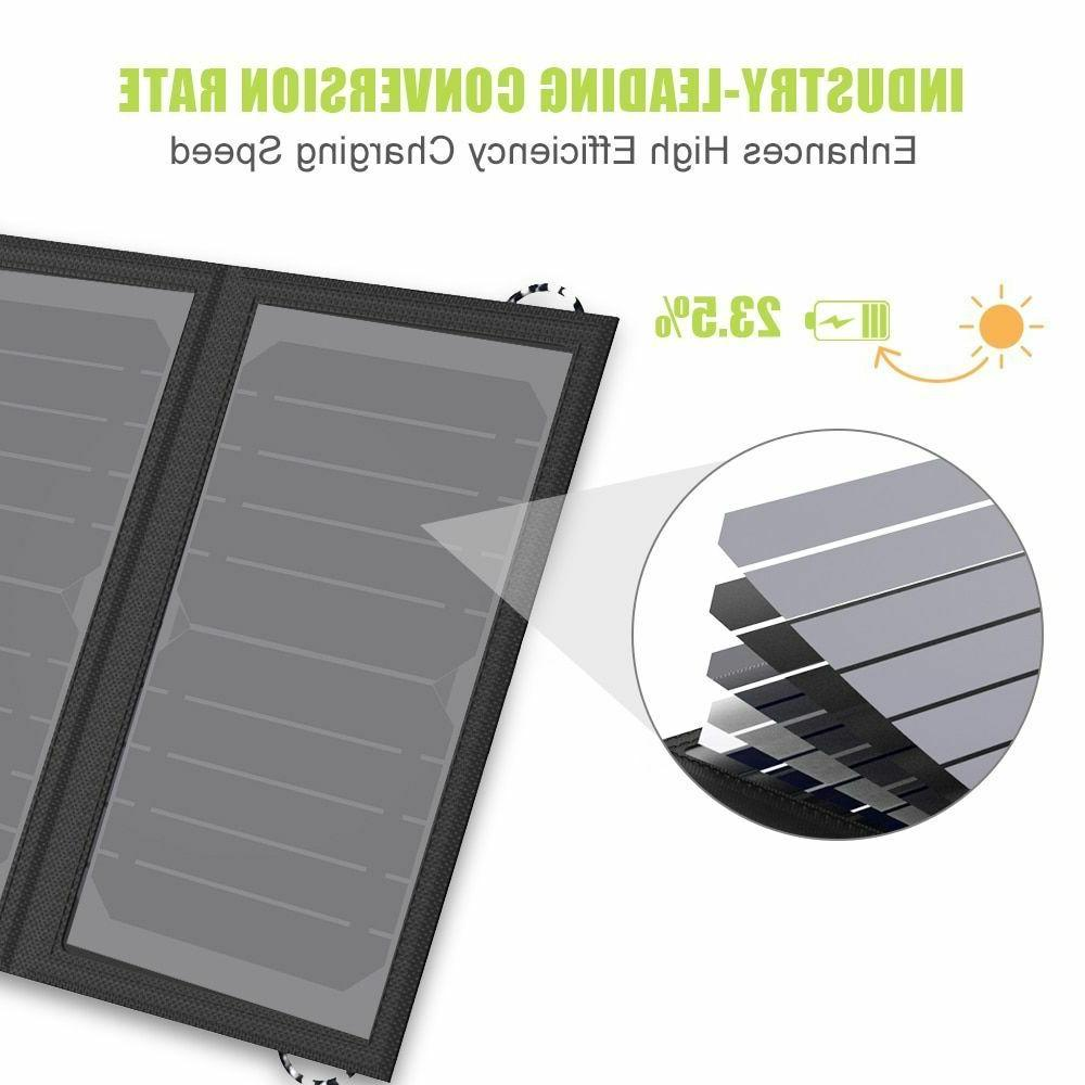 Solar Charger Battery Mobile Phone Hiking Outdoors