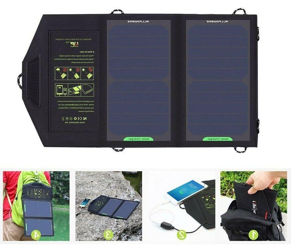 solar panels charger portable battery charging
