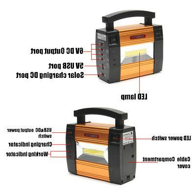 Solar Panels Energy Power System USB Home