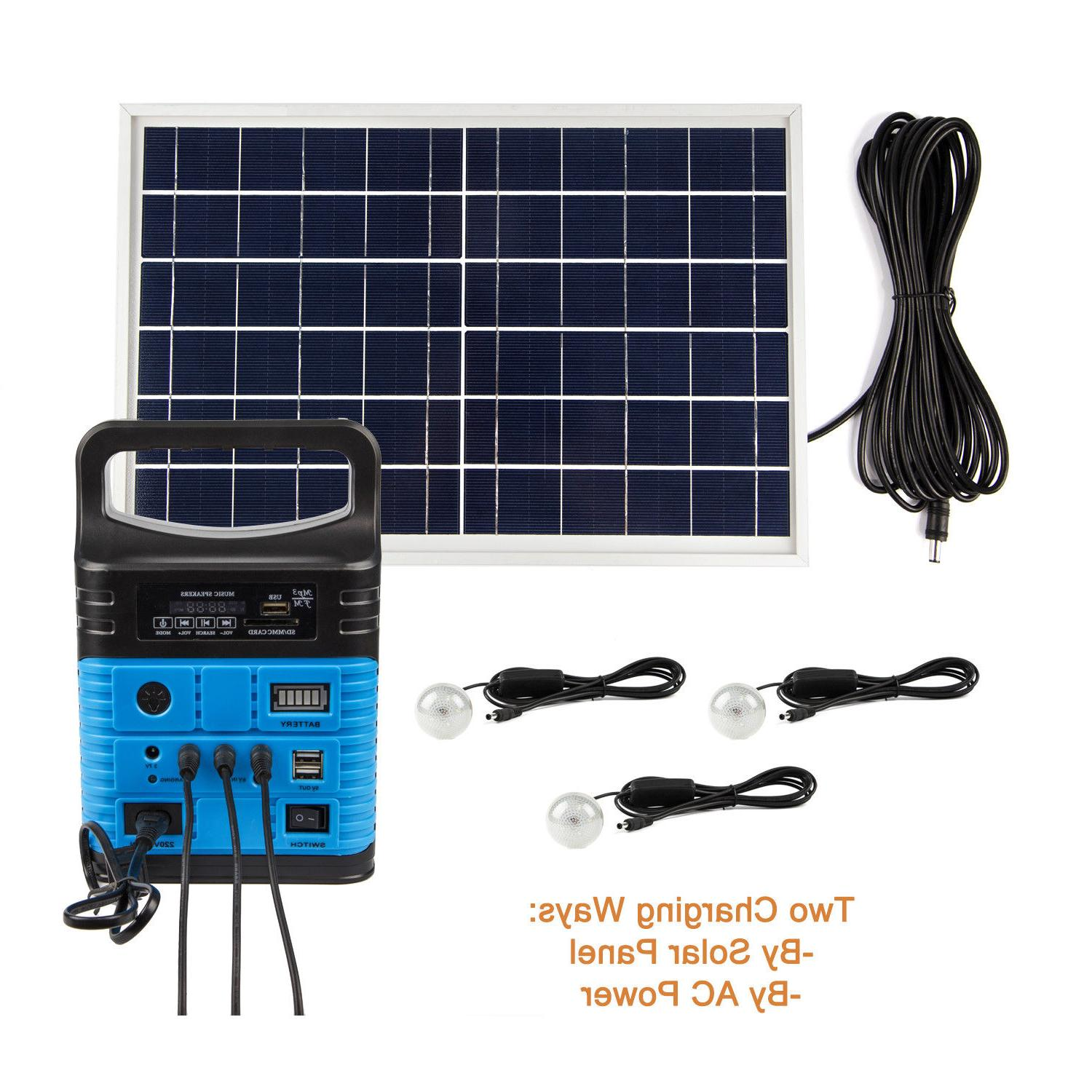 solar panels lighting kit 10w portable power