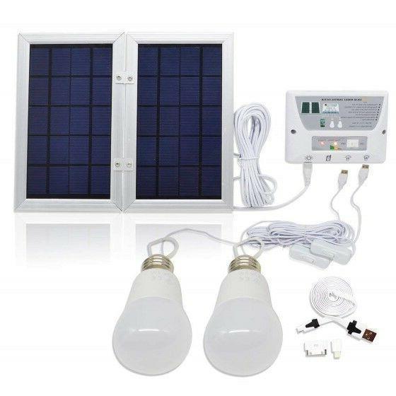 solar power lighting system usb port power