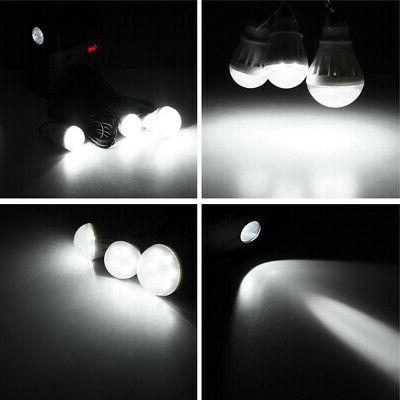 Solar Power LED Light USB System USA