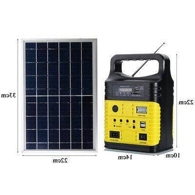 Solar Power LED USB Charger System FM Outdoor