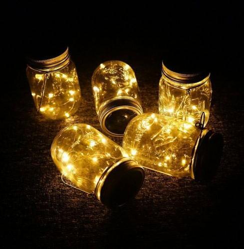 Mason Jar Fairy Light Insert Garden Yard Decor
