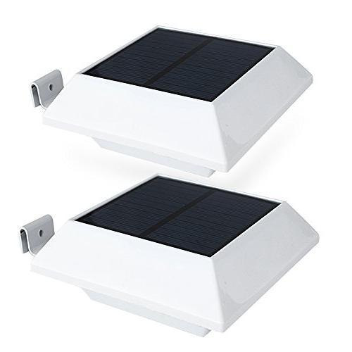 solar powered gutter lights security