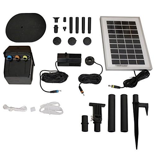 Sunnydaze Solar Water Fountain Pump and Solar Panel Kit with
