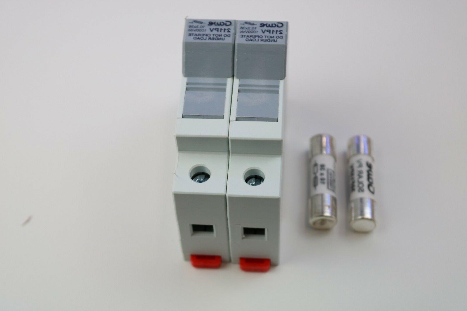 Solar PV String 15A tp 1000Vdc pair holder+fuse