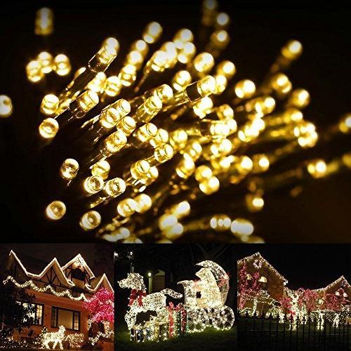 FirstLights Solar Lights 39 Feet, Warm White, LED Fairy Lights – Lawn, Garden, Waterproof Outdoor