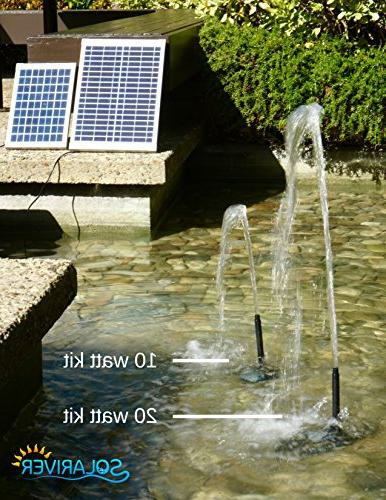 Solariver Water Kit Pump and 20 Solar Panel for Powered Waterfall,