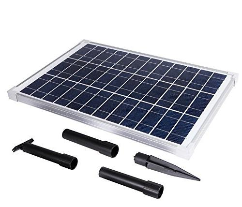 Solariver Solar Water Pump Kit 400+GPH Pump Solar for Sun Powered Waterfall, Aeration, Hydroponics,