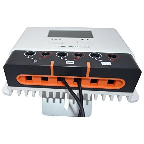 SolarEnz 40Amp Solar Charge Solar Battery Regulator with USB Port LCD 12V/24V Auto Solar Charge for Sealed Battery