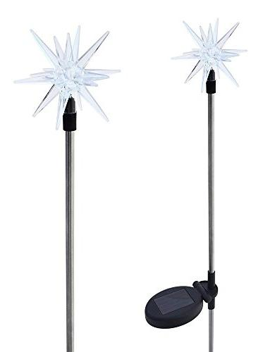 sparkling solar star lights garden