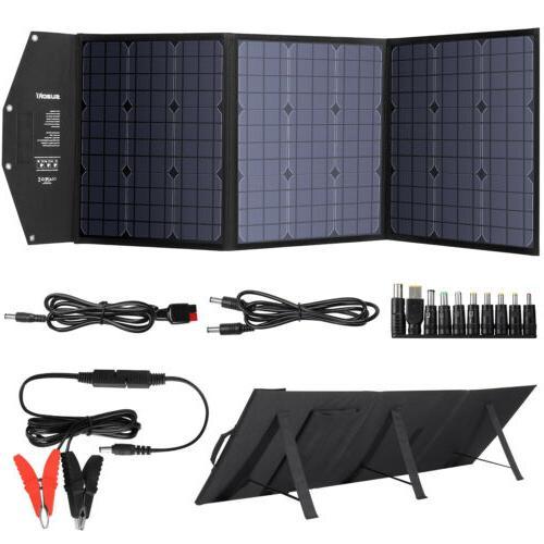 Suaoki 120W Solar Power Panel Battery Charger DC12-18V Folda