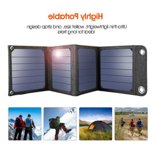 Suaoki 14W 5V Foldable Solar Panel Battery Charger USB Power