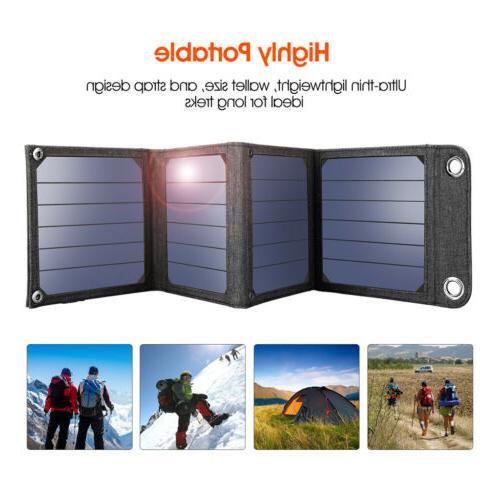 Suaoki 14W 5V Foldable Solar Panel Battery Charger USB Power