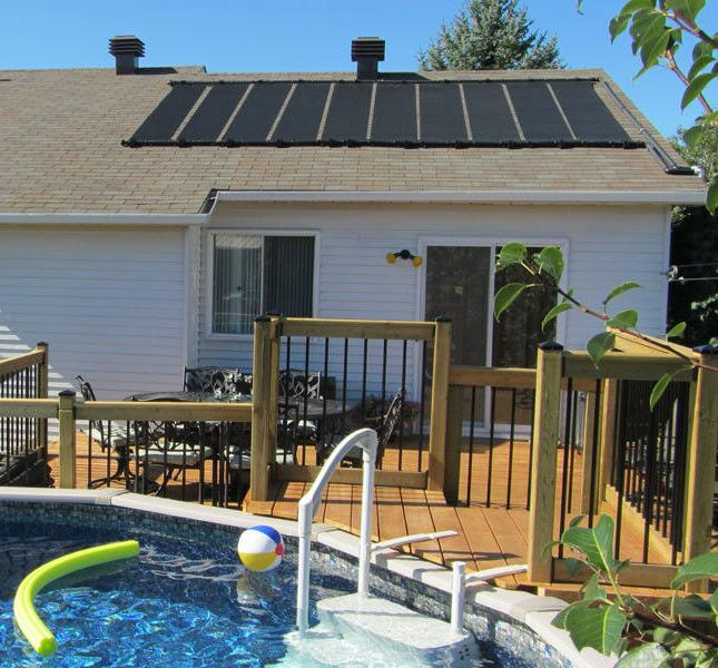 SunQuest 4-2X10 Solar Swimming Pool Heater Complete System w