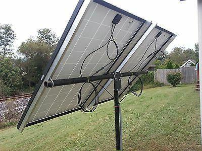 Universal solar panel pole mount kit, holds 2 large panels o