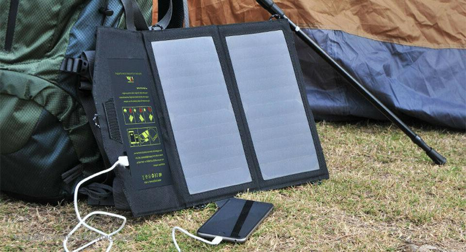 USA!! Solar Battery Charger 10W 5V for Phone Outdoor