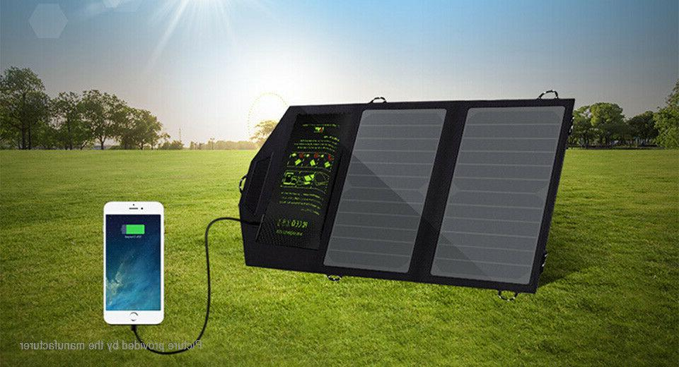 USA!! ALLPOWERS Solar Battery 10W for Hiking Outdoor