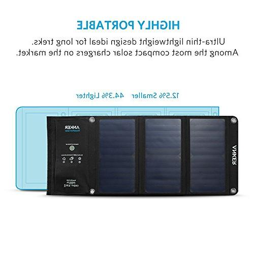 Anker 21W Solar Charger, for iPhone / 6s Galaxy / S6 / Edge/Plus, Note LG, HTC More