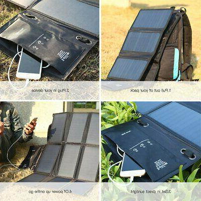 Waterproof 60W Solar Charger for Laptop US