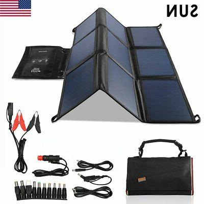waterproof foldable 18v 60w solar panel charger