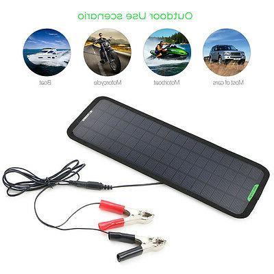 Portable Solar Panel 5W 12V 18V Battery Charger Backup Maint