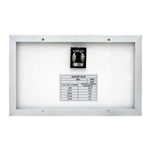 10W Solar Panel for 12V Solar Battery