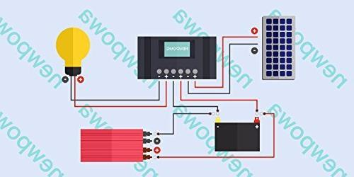 Newpowa 30w Watt Solar + 10A 12v Charging Controller Regulator