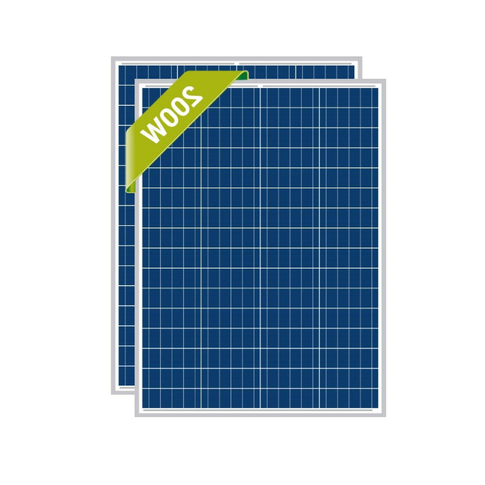 watt solar panel efficiency poly