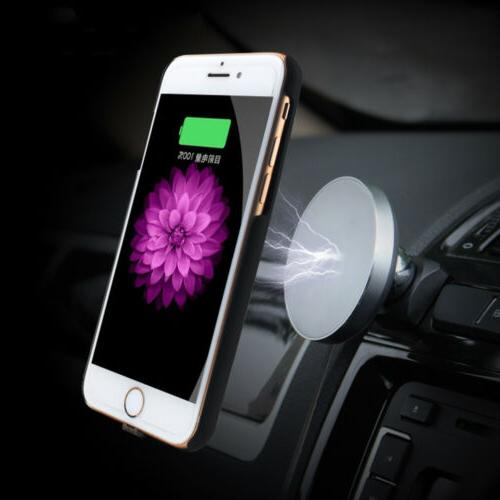 Qi Wireless Car Charger Magnetic Mount Holder For Samsung S9
