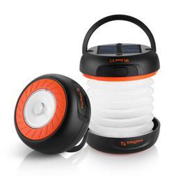Suaoki LED Solar Panel Lamp Light Flashlight Camping Lantern