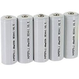 5pk Li-FePO4 Size 14430 Rechargeable 3.2V 400mAh Batteries F