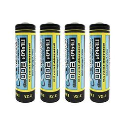 HyperPS 3.2V LiFePo4 14500 AA 600mAh Rechargeable Battery f