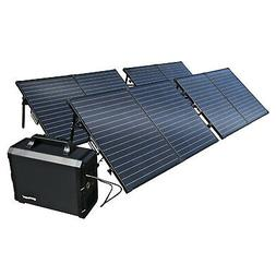 Lithium Power Station/Solar Generator, 1800Wh Battery + 400W