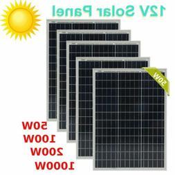 LOT 50W 100W 150W 200W 250W 300W 500W 1000W Poly 12V 50W Sol