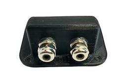 Made in USA Weatherproof Double Cable Entry Gland for 2-5mm/