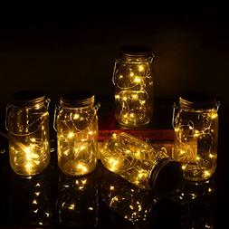 Yzan Mason Jar Fairy Canning Light Set Included 5 Pack Warm