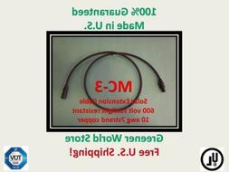 15 Foot Mc3 Solar Cable for Photovoltaic Solar Panels with M