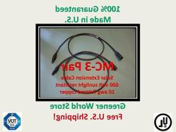 18 Foot Mc3 Solar Cables for Photovoltaic Solar Panels with