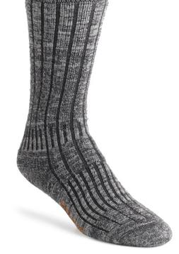 Wigwam Men's Merino/Silk Hiker Heavyweight Crew Socks,Charco